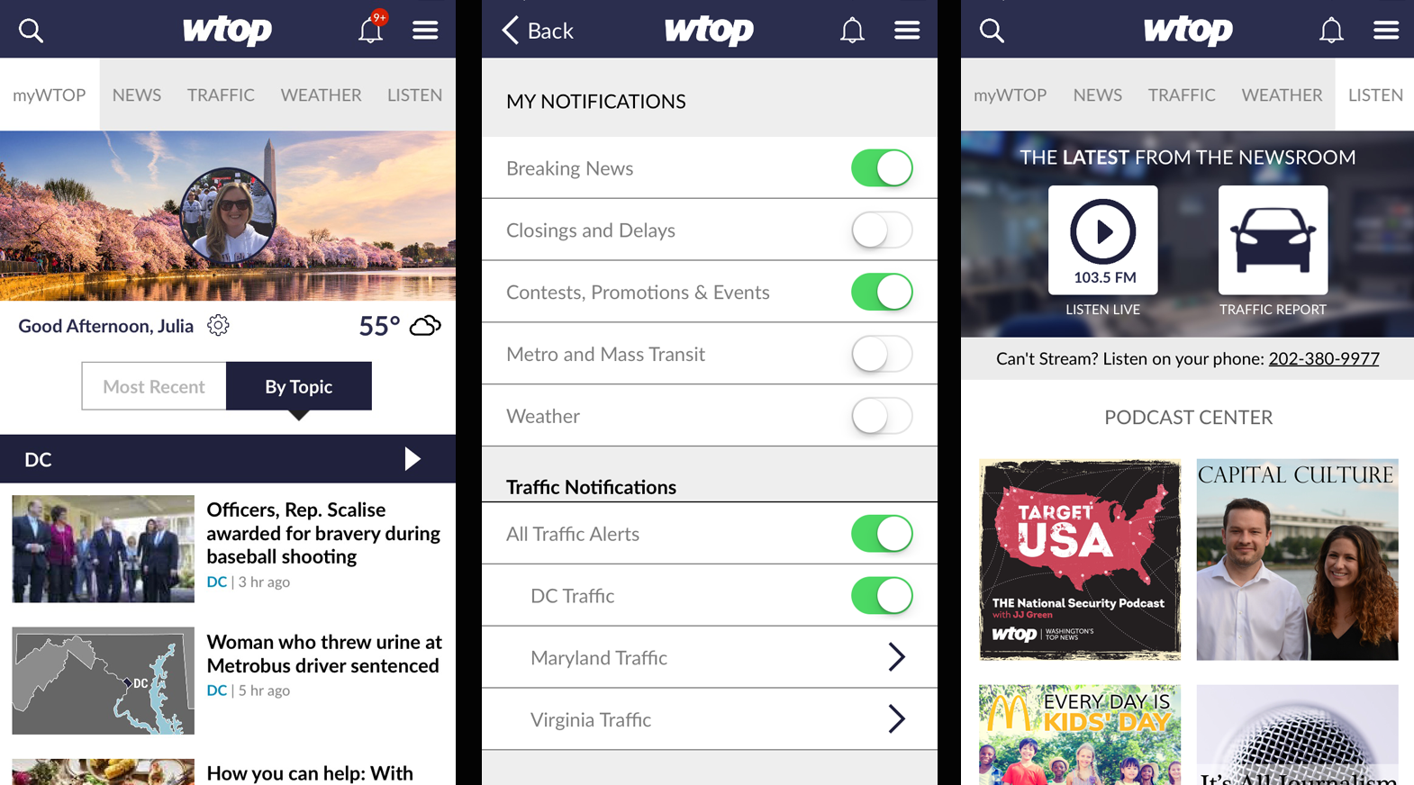 MyWTOP Notifications Listen