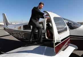 Riding high: For some, business commute is airborne