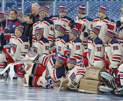 Classic matchup: Rangers, Flyers meet in showcase