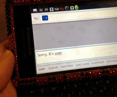 1 in 10 uses texting to break up