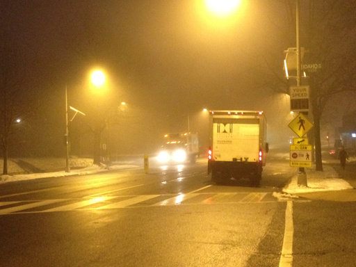 Foggy Monday morning in D.C. area