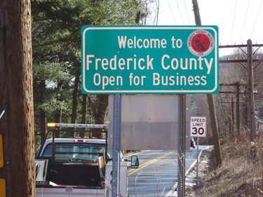 Frederick 'Open for Business' signs denied by state