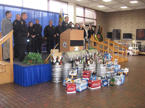 Underage drinking: Cops confiscated 270 gallons of beer, 40 gallons of liquor