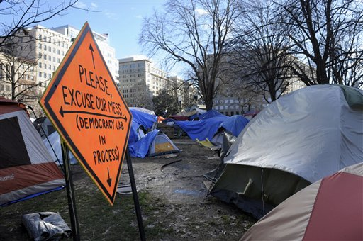 Smoke bomb goes off at Occupy D.C.