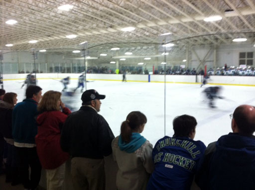 High school hockey fans told to tone things down