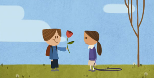 Google doodle gives lesson in love, political message on V-Day