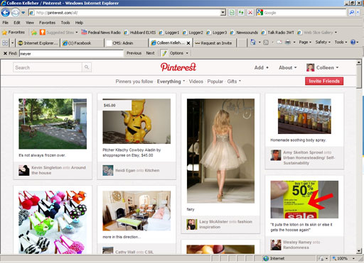 Interest in sharing site Pinterest grows