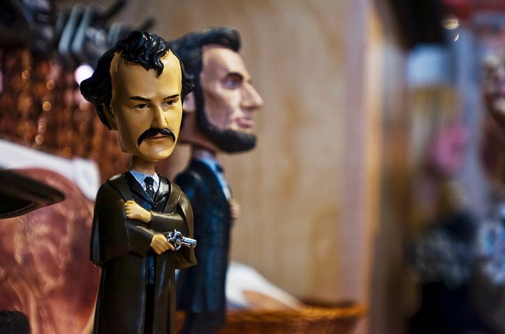 Booth bobbleheads do booming business