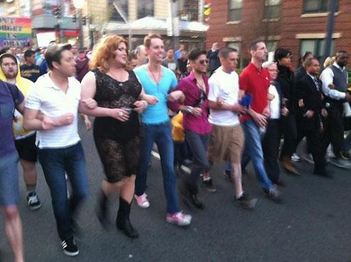 Silent march decries violence against LGBT community
