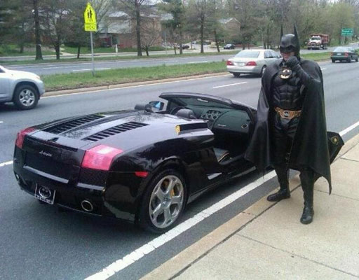 Video shows Md. traffic stop of Caped Crusader