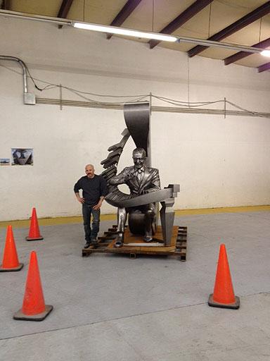 Duke Ellington sculpture makes commute to D.C.