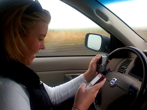Young drivers think they're safe despite distractions