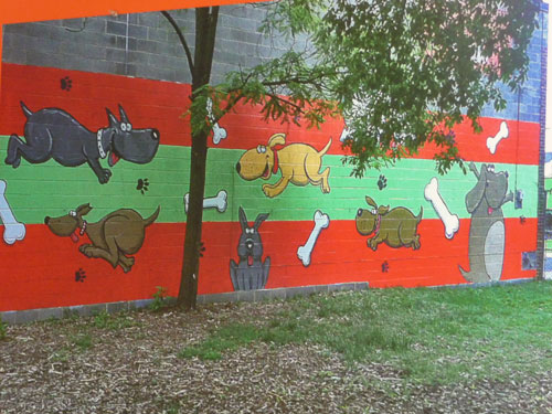 Outdoor mural dispute ends ruff ly for dog daycare owner WTOP