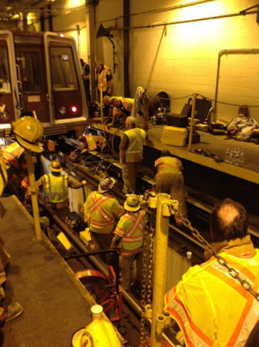 Man hit by Metro train Tuesday is critically injured