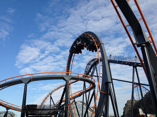 Zombies, and Kristi King, try new Apocalypse roller coaster