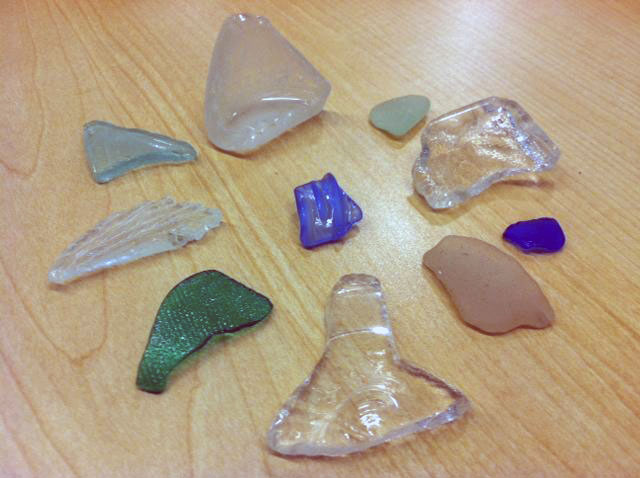 Sea glass becomes a rare and special find