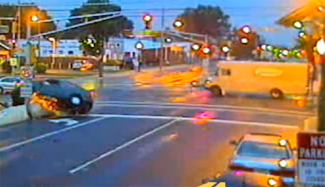 Car acrobatics demonstrate red-light hazards (VIDEO)