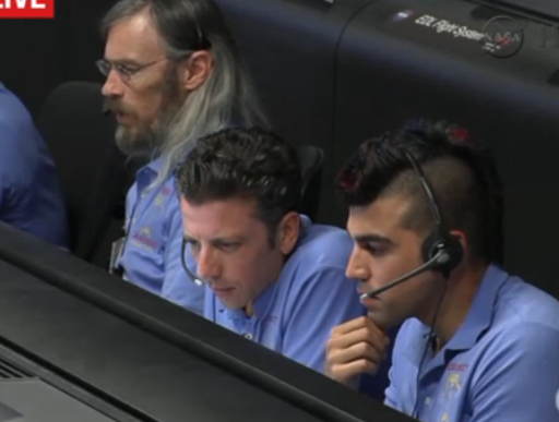 NASA's 'Mohawk Guy' draws 'Curiosity' of his own