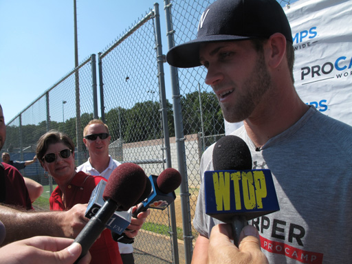 Bryce Harper leads one-day baseball camp for area kids