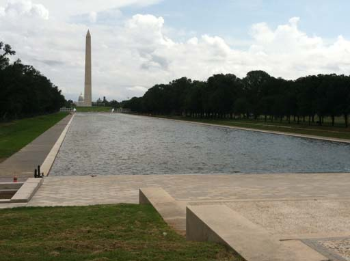 Reflecting Pool refilled as project nears completion