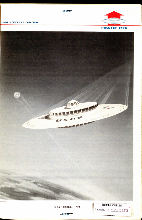 In the past, a UFO was planned for the future