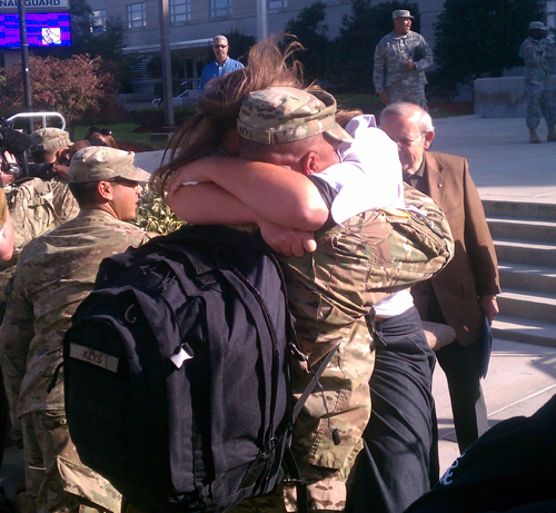 273rd receives emotional welcome home at D.C. Armory