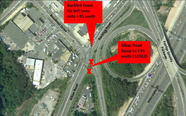Permanent I-95 ramp closure in Northern Virginia