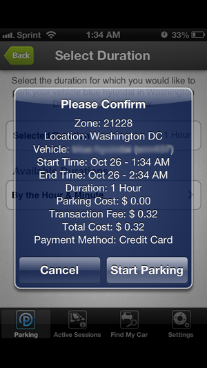 New fee and new feature for Parkmobile users