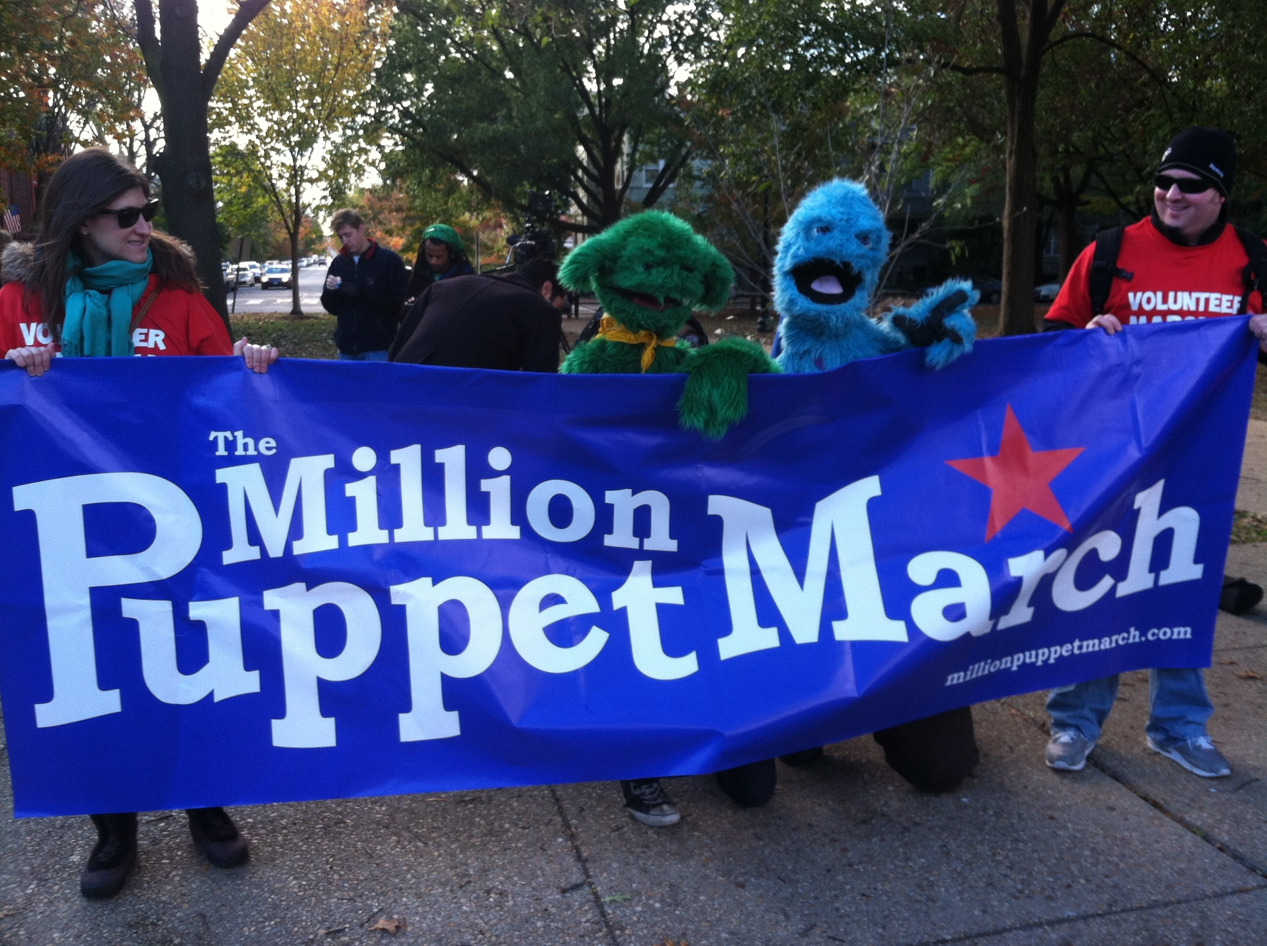 Puppets descend on capital in Million Puppet March