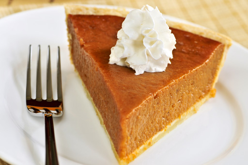 Go for the pumpkin pie, it's healthy for you