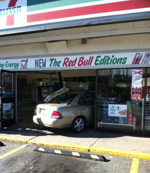Car crashes into front of Camp Springs convenience store