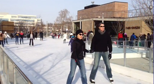 Canal Park offers new spin on ice skating (Video)