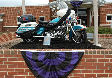 Rescuers pulled Prince William Co. officer from burning motorcycle