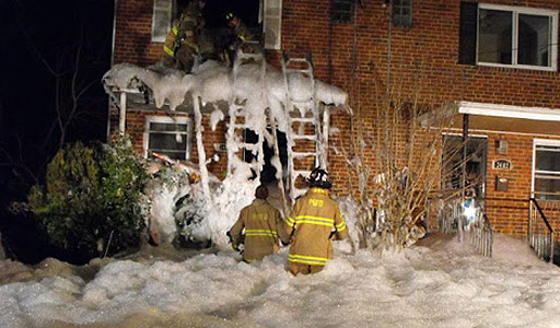 Foam used to fight hoarder house fire in Brentwood, Md.