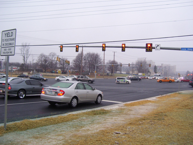 Construction alleviates traffic at Gallows Rd. and Rt. 29