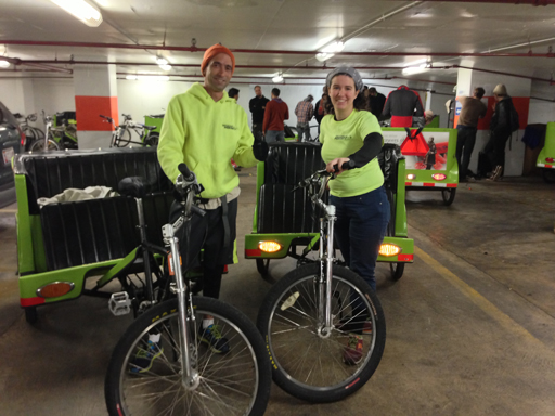 Pedicabs providing 'transportainment' for inauguration