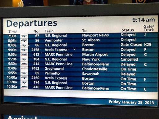Delays continue on MARC and Amtrak between D.C. and Baltimore