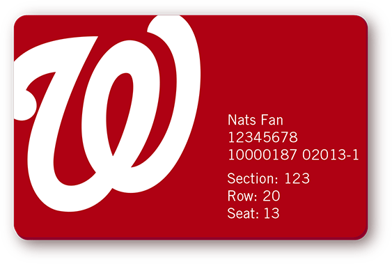 Nats season ticket holders no longer getting printed tickets