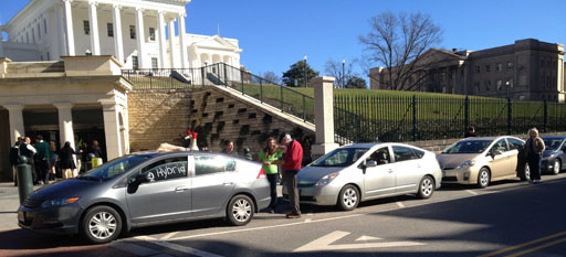 Hybrid car owners protest McDonnell's proposed fee