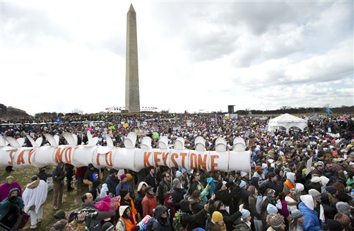 Thousands rally on National Mall for action on climate change