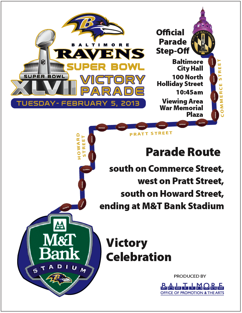 Parade for Ravens' celebration heads to M&T