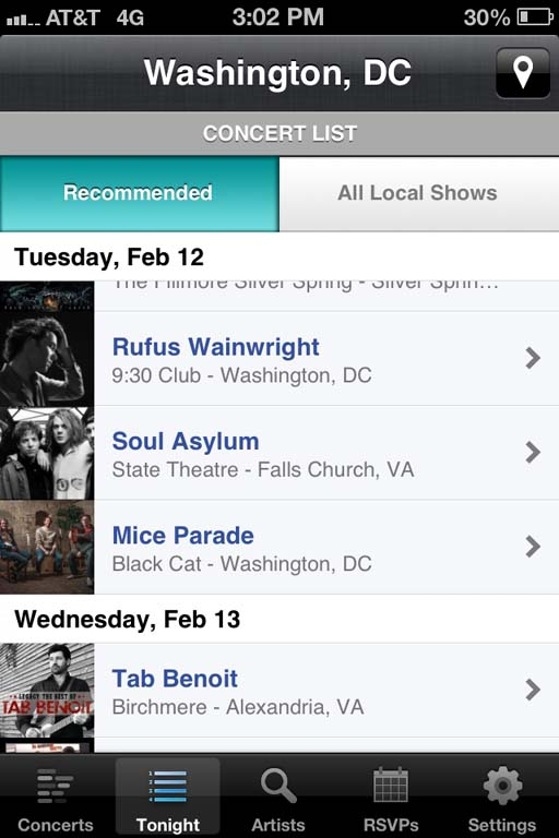 Bandsintown app helps music lovers track concerts