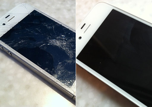 Before And After Shots Of A Broken IPhone WTOP Tim Bracken