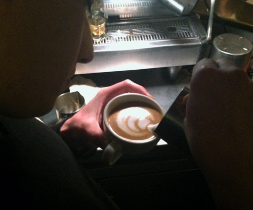Baristas pour over details to create latte art in D.C. (VIDEO)