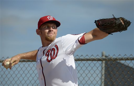 Nats pitcher Stephen Strasburg is ready for the season