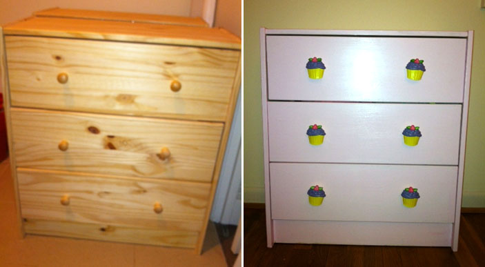 Good to go diy ideas for redecorating this spring wtop the before and after photo of the dresser wtops katie howard redecorated for her daughters do it yourself with a can of paint and funky knobs solutioingenieria Image collections