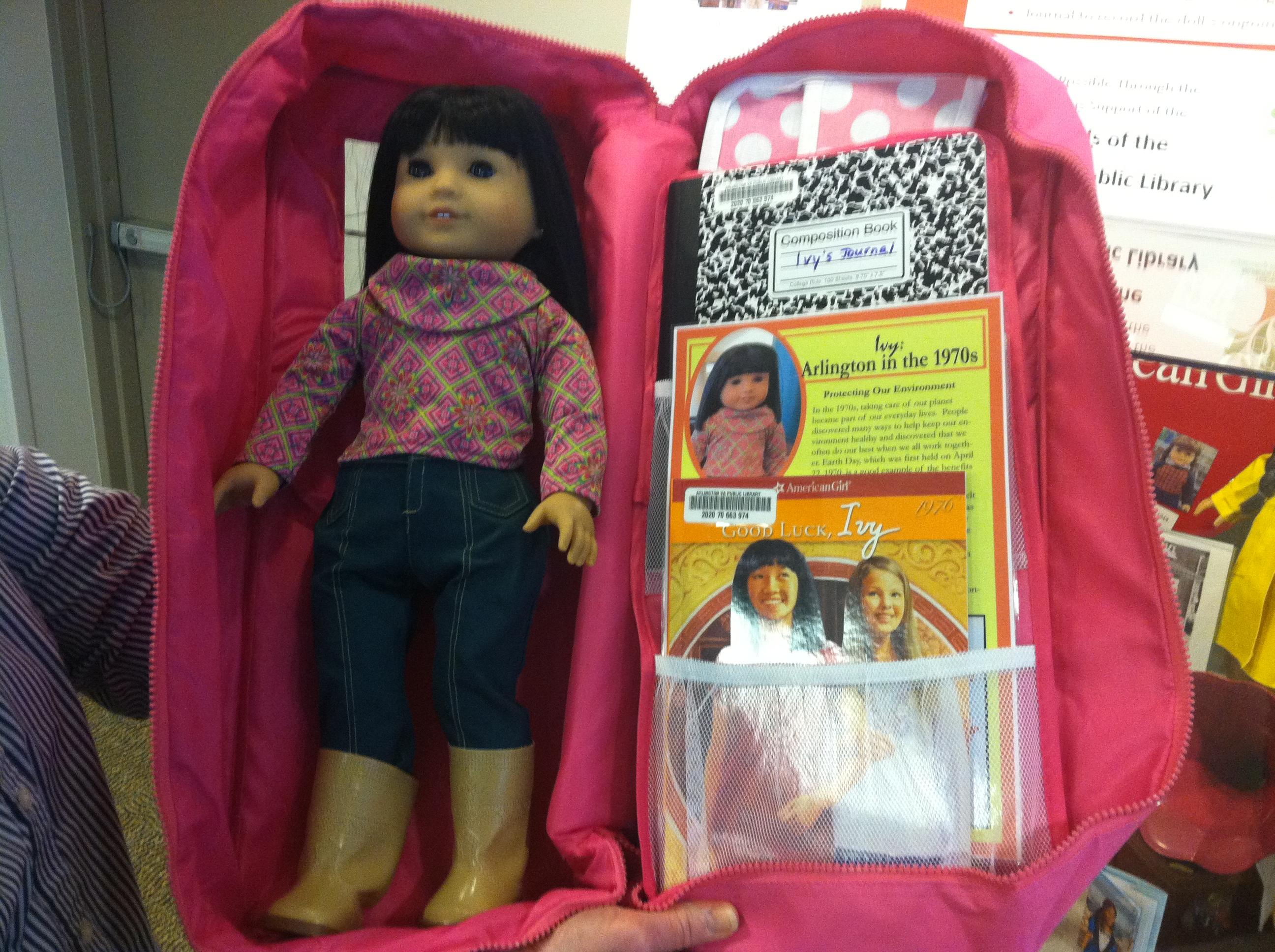 Arlington Public Library loans American Girl dolls