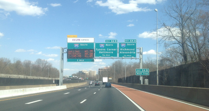 Travel times come to I-66, but not to the Beltway Express Lanes