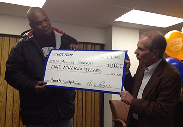 Former Hoya back in winner's circle with $1 million lotto ticket