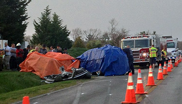 4 young men killed in head-on collision